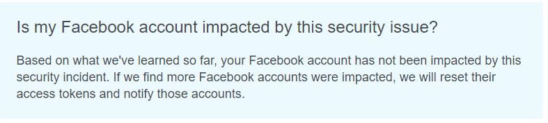 Facebook Hack Status